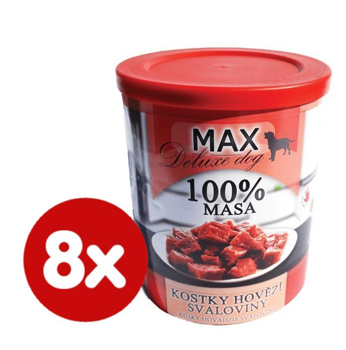 FALCO MAX deluxe kostky hovězí svaloviny 8x800 g