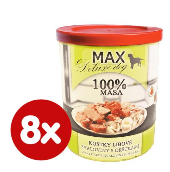 FALCO MAX Deluxe konzerve za pse, s koščki puste govedine in vampi, 8x 800 g