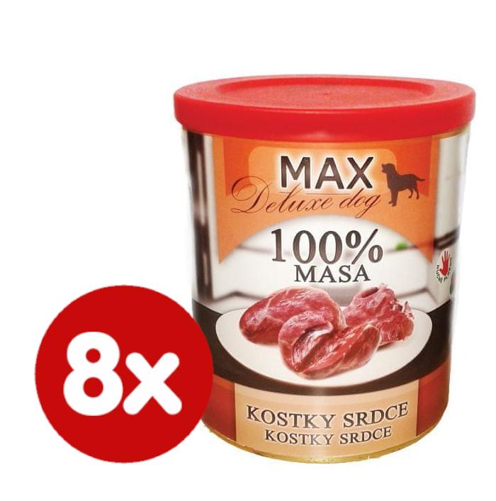 FALCO MAX deluxe kostky srdce 8x800 g