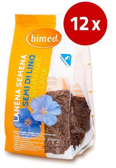 Bimed semena rjavega lana, 12 x 200 g