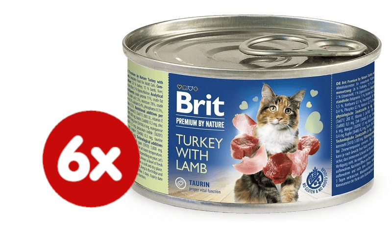 Brit Premium by Nature Turkey with Lamb 6x200 g