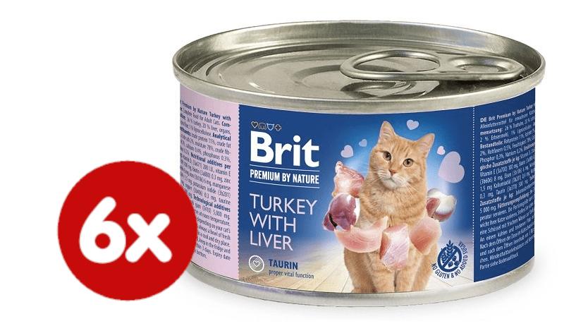 Brit Premium by Nature Turkey with Liver 6x200 g