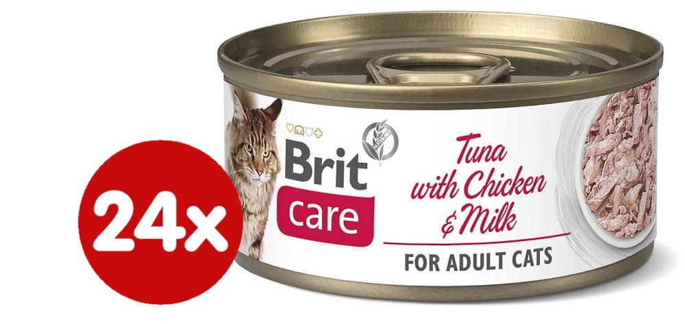 Brit Care Cat Tuna with Chicken And Milk 24x70 g