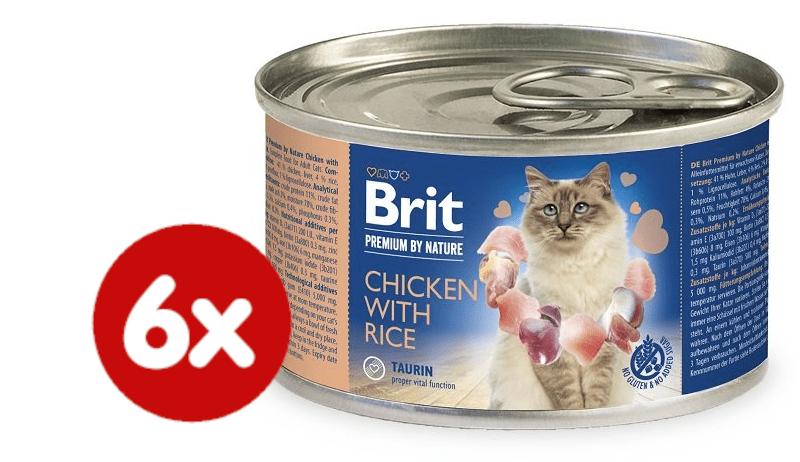 Brit Premium by Nature Chicken with Rice 6x200 g