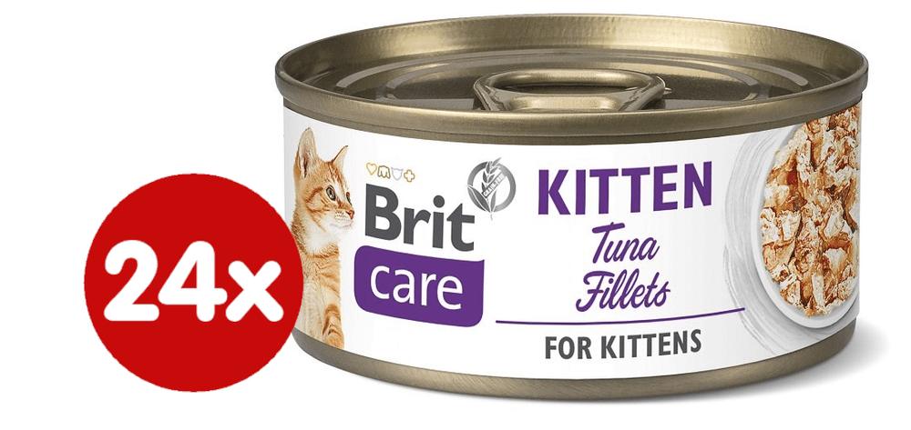 Brit Care Cat Kitten Tuna Fillets 24x70 g