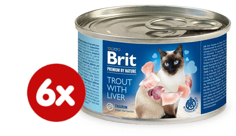 Brit Premium by Nature Trouth with Liver 6x200 g