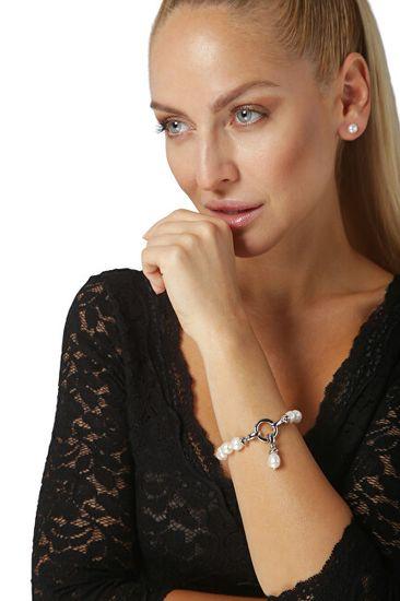 JwL Luxury Pearls Bransoletka wykonana z prawdziwych białych pereł JL0560