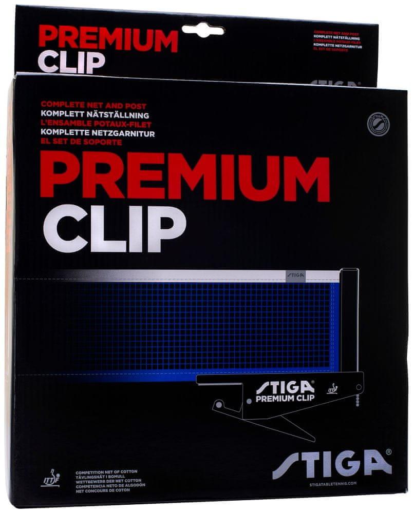 Stiga Síť na stolní tenis Premium WM Clip