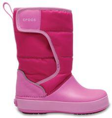 Crocs Śniegowce dziewczęce Kids' LodgePoint Snow Boot 204660-6LR 24-25 różowe