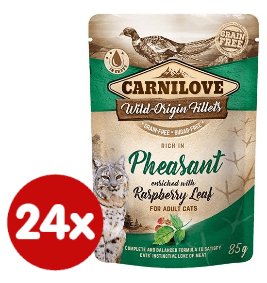 Carnilove Rich in Pheasant Enriched with Raspberry Leaves 24x85 g
