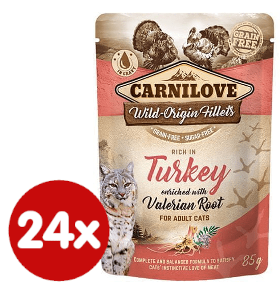 Carnilove Rich in Turkey Enriched with Valerian 24x85 g