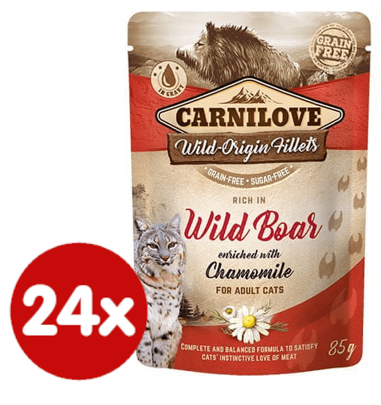 Carnilove Rich in Wild Boar Enriched with Chamomile 24x85 g