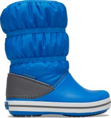 Crocs fiú hótaposó Crocband Winter Boot K Bright Cobalt/Light Grey 206550-4JW, 27-28, kék