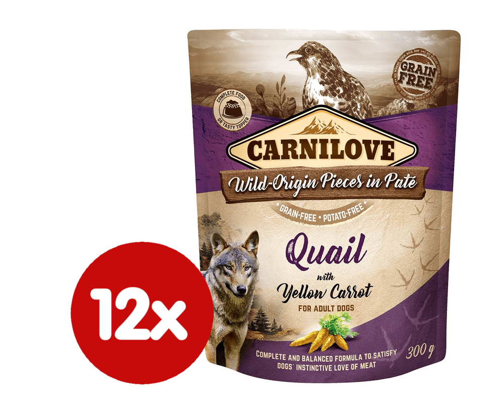 Carnilove Quail with Yellow Carrot 12x300 g