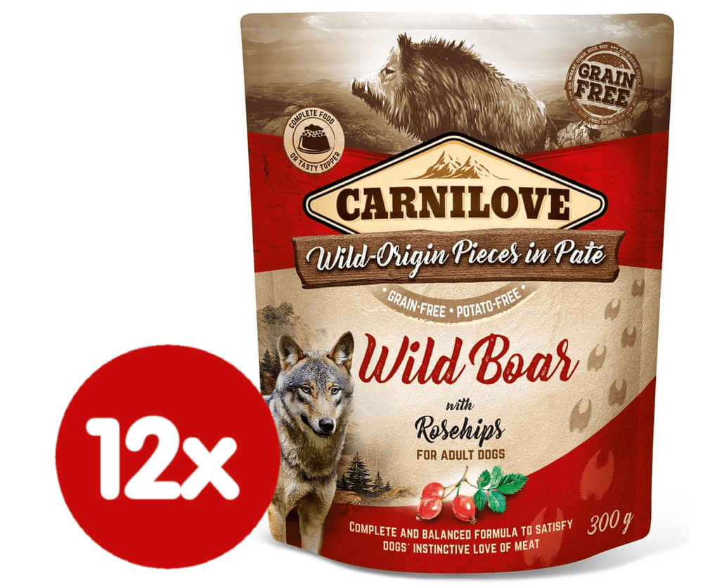 Carnilove Wild Boar with Rosehips 12x300 g