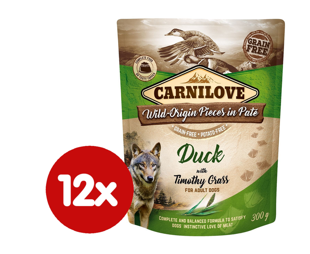 Carnilove Duck with Timothy Grass 12x300 g
