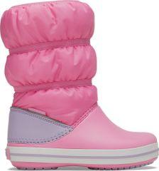 Crocs dekliški snežni čevlji Crocband Winter Boot K Pink Lemonade/Lavender 206550-6QM, 30-31, roza