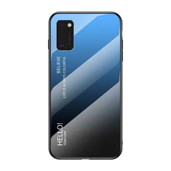 MG Gradient Glass plastika ovitek za Samsung Galaxy A41, črna/modra