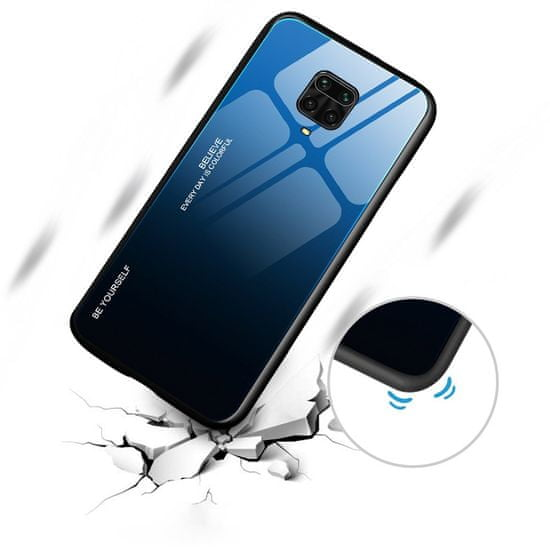 MG Gradient Glass plastika ovitek za Huawei P40 Lite, črna/modra