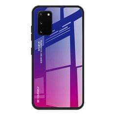 MG Gradient Glass plastika ovitek za Samsung Galaxy A41, roza/vijolična