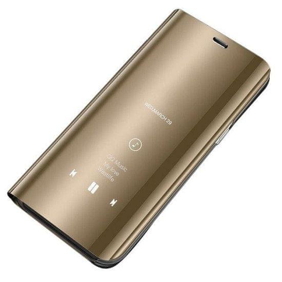 MG Smart Clear View usnjeni ovitek za Xiaomi Mi 10T 5G / Mi 10T Pro 5G, zlato