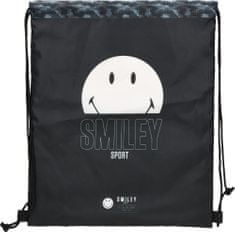 Smiley vrečka za copate, črna