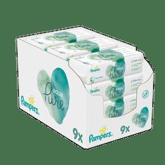 Pampers 9x Aqua Pure vlhčené ubrousky