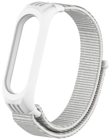 EPICO Nylon Strap nadomestni pas Xiaomi Mi Band 5/6 (50818141100001), bel