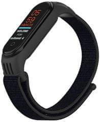 EPICO Nylon Strap nadomestni pas Xiaomi Mi Band 5/6 (50818141300001), črn