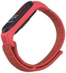 EPICO Nylon Strap nadomestni pas Xiaomi Mi Band 5/6 (50818141400001), rdeč