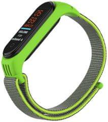 EPICO Nylon Strap nadomestni pas Xiaomi Mi Band 5/6 (50818141400001), zelen