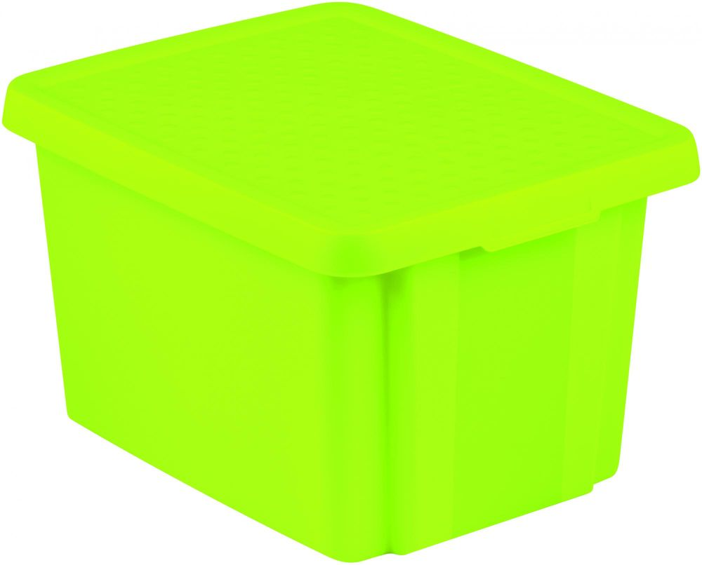 Curver úložný box ESSENTIALS 26l s víkem zelený