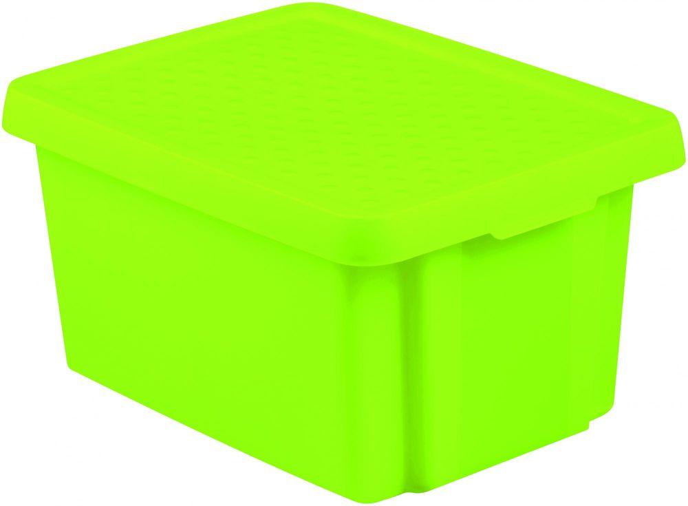 Curver úložný box ESSENTIALS 16l s víkem zelený