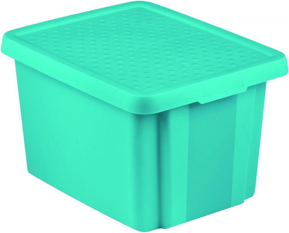 Curver úložný box ESSENTIALS 26l s víkem modrý