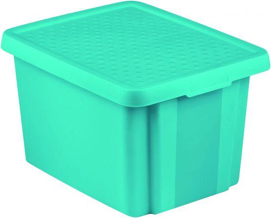 CURVER pudełko do przechowywania ESSENTIALS 26l z pokrywą niebieskie
