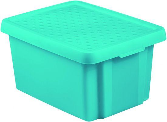 CURVER pudełko do przechowywania ESSENTIALS 16l z pokrywą niebieskie