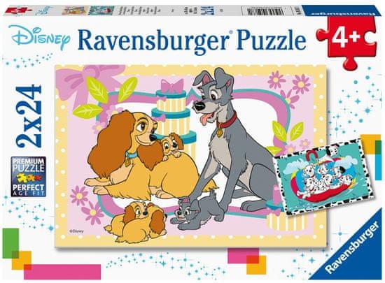 Ravensburger 050871 Sestavljanka Disney pravljice, 2x 24 delov
