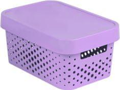 Curver úložný box INFINITY 4,5l s víkem růžový puntíky