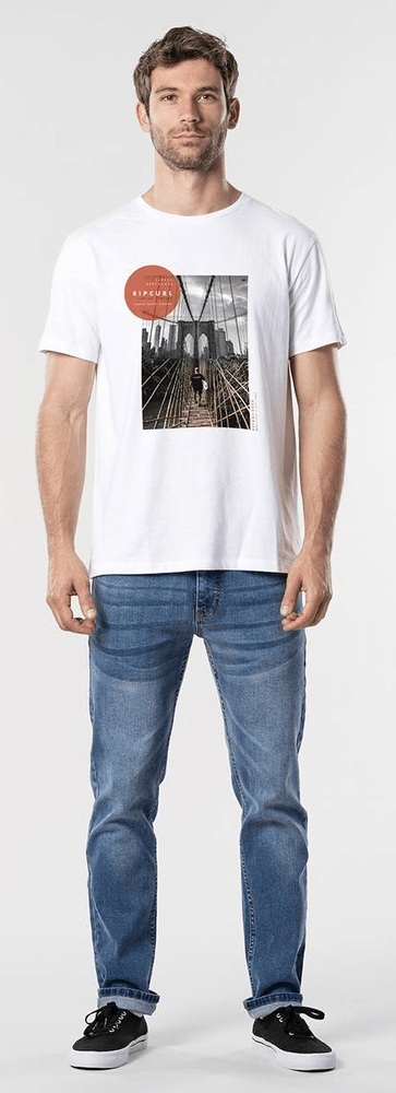 Rip Curl pánské tričko GD/BD Tee S bílá