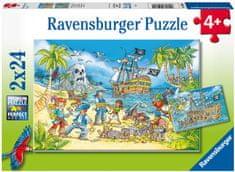Ravensburger Puzzle 050895 Kalózok 2x24 darab