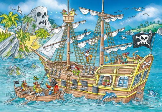 Ravensburger 050895 Sestavljanka Pirati, 2x 24 delov