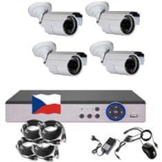 Eonboom 4CH 5MPx AHD kamerový set CCTV 4B - DVR s LAN a 4x venkovní bullet