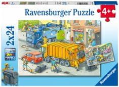 Ravensburger Puzzle 050963 Hulladék likvidálás 2x24 darab