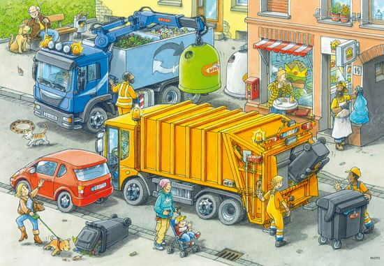 Ravensburger Sestavljanka Odstranjevanje odpadkov, 2 x 24 delov (5096)