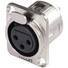 Hicon XLR mounting plug 3pin HI-X3DF