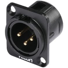 Hicon XLR mounting plug 3pin HI-X3DM-G