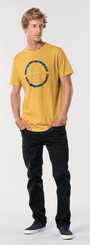 Rip Curl pánské tričko Filter Party Tee M žlutá