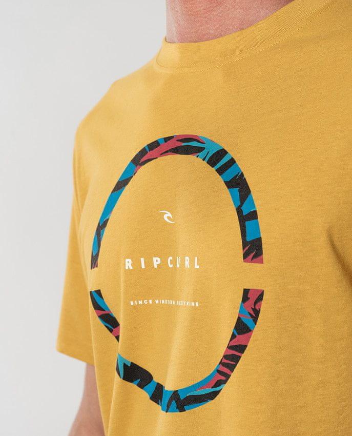 Rip Curl pánské tričko Filter Party Tee S žlutá