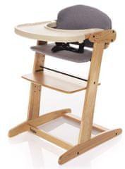 ZOPA jedilni stolček, rastoči, Natur/Grey, naraven/siv