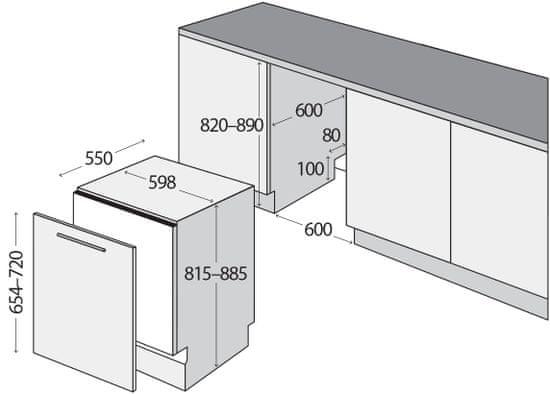 Concept vestavná myčka MNV4160